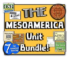 The Mesoamerica Unit: 7 fun, hands-on resources for the Incas, Aztecs, & Mayas!