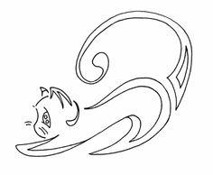 Free cat doodle digi