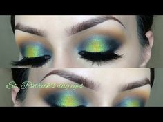 St. Patricks Day l Eyeshadow tutorial - YouTube
