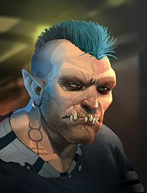 Male Ork Shadowrunners Portraits from Shadowrun Returns and Shadowrun Dragonfall.