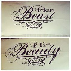 Couples Pillow Cases Beauty Beast pillowcases personalized gift idea for him or Her Bridal Shower Anniversary or Wedding - Tattoos Life Him And Her Tattoos, Love Tattoos, Body Art Tattoos, New Tattoos, Tatoos, Mommy Tattoos, Husband Wife Tattoos, Etsy App, Relationship Tattoos