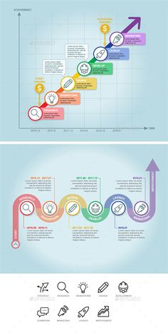 Business Timeline Infographic — Vector EPS #strategy #improvement • Available here → https://graphicriver.net/item/business-timeline-infographic/17751464?ref=pxcr