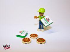 #PIZZA WITH BOX #Sticker for #LEGO tiles and bricks on www.brick-pimp.com