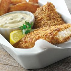 Crispy Oat Crusted Fish Fillets with Carnation Tartar Sauce and the Panko Crusted Tilapia with Spicy Tartar Sauce / 2 Recipes Sauce Recipes, Fish Recipes, Seafood Recipes, Cooking Recipes, Healthy Recipes, Gf Recipes, Drink Recipes, Delicious Recipes, Healthy Food