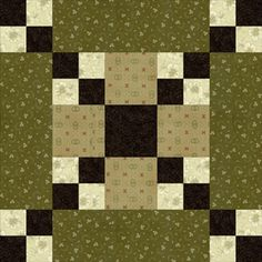 Free Five Patch Quilt Block Patterns: Five Patch Chain Quilt Block Pattern