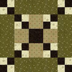 Free Five Patch Quilt Block Patterns: Five Patch Chain Quilt Block Pattern
