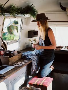 Local Branch Airstream trailer remodel via Design Sponge. Great idea (and design) for a traveling live-work space!