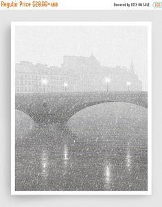 30% OFF SALE: Paris illustration - Ile Saint Louis (grey version) - Illustration Giclee Fine Art Print Paris Posters Home Decor Architectura