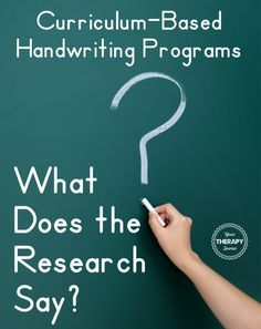 The American Journal Of Occupational Therapy recently published a systemic review of curriculum-based handwriting programs for students in preschool through second grade. Challenges with handwriting in school can have a negative impact on academic performance, Occupational therapy practitioners frequently help students improve handwriting legibility, speed, and fluency.