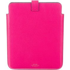 Pre-owned Smythson iPad Case ($145) ❤ liked on Polyvore featuring accessories, tech accessories, pink, pink ipad case, ipad sleeve case, genuine leather ipad case, pink leather ipad case i leather ipad case