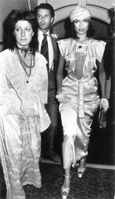 Bianca Jagger // Trending : Turbans // 1969 & 70's Boho Rockstar Street + Stage Style // The Jet Set // Glam Bohemian Mashup // Designer Fashion Ideas + Inspiration