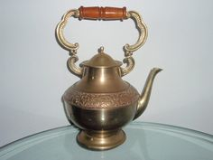 Large Vintage Brass Tea Pot Beautiful detail by FELVERSFEVER, $39.99