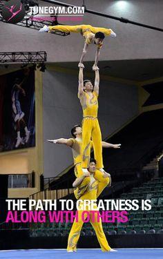 Acrobatic Gymnastics motivational quote