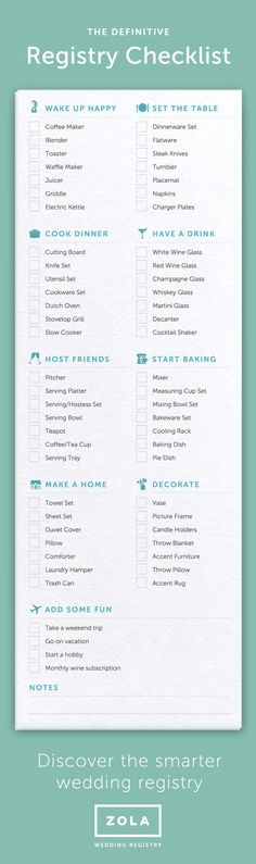 Your Essential Wedding Registry Checklist | Wedding, Weddings And