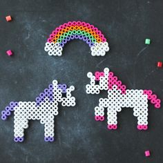 Use these unicorn Perler bead patterns to make this cute unicorn craft. Perler beads are so fun for kids, and they love to make new creations!