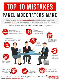 10 Common Mistakes Panel Moderators Make…And How to Avoid Them Insight Out, Talk Too Much, Meeting Planner, Pet Peeves, Reality Tv Shows, Cool Technology, Business Management, Marketing Materials, What You Can Do
