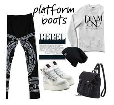 """Kickin' It/Platform Boots"" by clotheshawg ❤ liked on Polyvore featuring Puma"