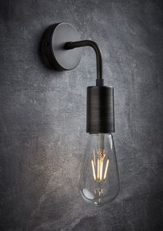 Alert - Industrial Lighting Vintage Sleek Edison wall Light in Pewter. Urban style industrial lighting by Industville.Vintage Sleek Edison wall Light in Pewter. Urban style industrial lighting by Industville. Vintage Light Fixtures, Industrial Light Fixtures, Vintage Wall Lights, Bathroom Light Fittings, Wall Light Fixtures, Vintage Industrial Lighting, Industrial House, Retro Lighting, Industrial Bathroom Lighting