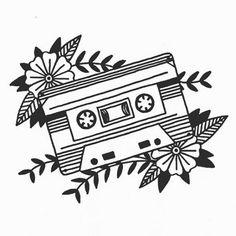 Another of my designs for @abandonshipapparel #loveabandonship #cassette #tape #tattoo #illustration #longfox