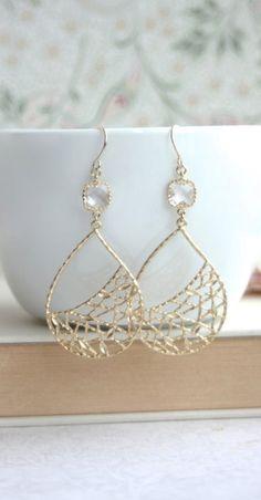 Modern Gold Earrings, Boho Chic, Modern Large Teardrop, Everyday Earrings. By Marolsha. https://www.etsy.com/listing/198475699/modern-gold-bohemian-earrings-boho-chic?ref=shop_home_active_13