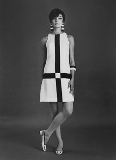 Color Blocking - Sixties Style!  Jan Stewart photographed by Bruno Benini, 1966.