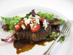 Skinny Steak, Strawberries and Gorgonzola With a Dreamy Balsamic Reduction with Weight Watchers Points | Skinny Kitchen