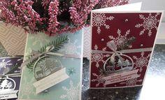 Stempel, Farben & Spaß: Schneeflocken zu Weihnachten