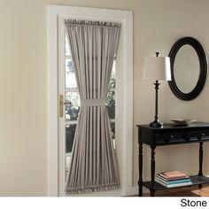 Sun Zero Galia Patio Door Window Curtain Black Size 72 Inches Polyester Solid