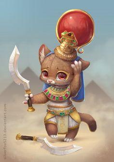 Lil Sekhmet by on DeviantArt Cute Creatures, Magical Creatures, Fantasy Creatures, Cute Animal Drawings, Cute Drawings, Anime Animals, Cute Animals, Chibi, Arte Do Kawaii