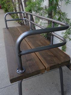 Panka Indoor/outdoor Bench Brushed Metal Finish