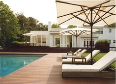 Happy Fourth of July from Groves & Co.! We hope you are celebrating somewhere as fabulous as this #grovesandco  designed pool in Wainscott, NY. #pool #deck #fourthofjuly #relax #srgarchitect #srussellgroves
