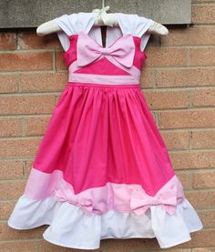 Based on the sweet pink dress that Jack-Jack, Gus-Gus and friends made for dear ol Cindy, this dress is adorable and perfect for dancing the night away Princess Dress Up, Disney Princess Dresses, Princess Outfits, Princess Costumes, Girl Outfits, Disney Dress Up, Disney Outfits, Disney Costumes, Dress Up Aprons