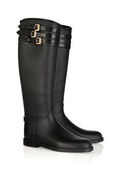 Chic para dias lluviosos / Botas de goma para lluvia, de Burberry Prorsum, disponibles en Net-a-porter.com