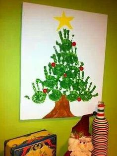 Children's Christmas art project! I'd love to try this with my preschool class!