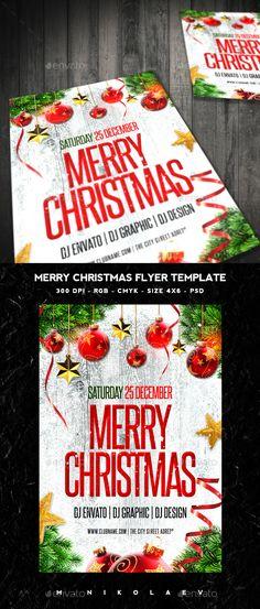 Merry Christmas Flyer Template PSD #design #xmas Download: http://graphicriver.net/item/merry-christmas-flyer/13584133?ref=ksioks