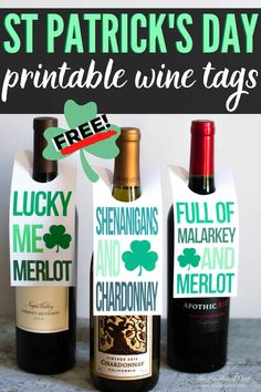Fun free printable tags for your non-green beer drinking friends and family this St. Gifts For Wine Lovers, Wine Gifts, Free Printable Tags, Free Printables, Thanksgiving Prints, Paddys Day, St Paddys, Green Beer, St Patrick's Day Gifts