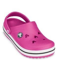 08227dfdb Crocs Fuchsia Crocband Mickey III Clog - Kids