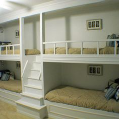 i like the idea of having this in the basement playroom for sleepovers. plus it's extra guest beds