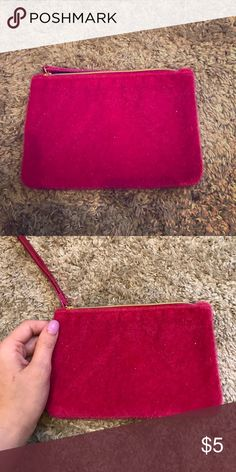 Fur make up case Small travel size make up case. I am holding it for a size perspective. Bags Cosmetic Bags & Cases