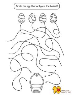 Help the Easter egg reach the basket activities worksheet Help the Easter egg reach the basket Easter Worksheets, Easter Activities, Fun Activities For Kids, Easter Projects, Easter Crafts For Kids, Cool Coloring Pages, Coloring For Kids, Easy Arts And Crafts, Fine Motor