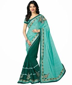 Check out our latest Light Blue Lace Work Party Wear #Saree at Most Affordable Price. So Hurry!!! Shop now at http://www.ethnicstation.com/sarees/party-wear-sarees