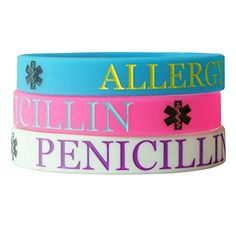 Hairyworm - Penicillin Child Size Silicone Wristband Combi Pack (pack of 3 Wristbands) -- Want to know more, click on the image.