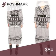 "Free People Open V Back Midi Dress M New with tags Free People ""She's a Lady"" open V-Back printed Midi dress, size Medium Free People Dresses Midi"