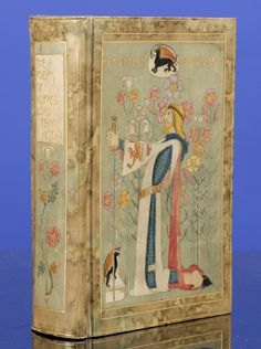 """The Works of Alfred Lord Tennyson. """"Vellucent"""" Binding by Cedric Chivers. Hand-Painted By Dorothy Carleton Smyth. London: Macmillan and Co., 1899."""