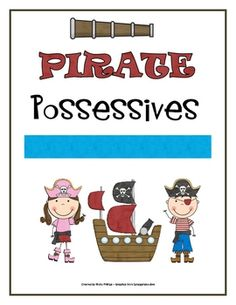 This pirate themed possessive noun game is sure to be fun for your students. It would make a great literacy center. Students draw cards and tell wh...