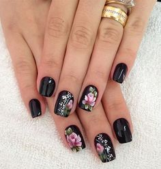 Trending winter nail art acrylic you must try 35 Fabulous Nails, Gorgeous Nails, Manicure And Pedicure, Gel Nails, Nail Design Spring, Acryl Nails, Watermelon Nails, Black Nail Art, Nail Designer