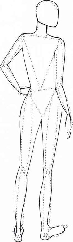 Back Figure Template