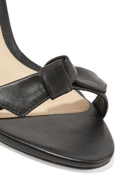 Alexandre Birman - Patty Bow-embellished Leather Sandals - Black - IT35.5