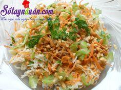 Nộm bắp cải cho ngày hè mát mẻ. - Sổ tay nấu ăn Nom Nom, Vegan, Cooking, Ethnic Recipes, Food, Vegetarian Dish, Kitchens, Kitchen, Essen