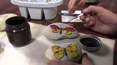 Mulher.com 06/06/2013 Mauricio Moraes - Pintura na pedra borboleta Parte...